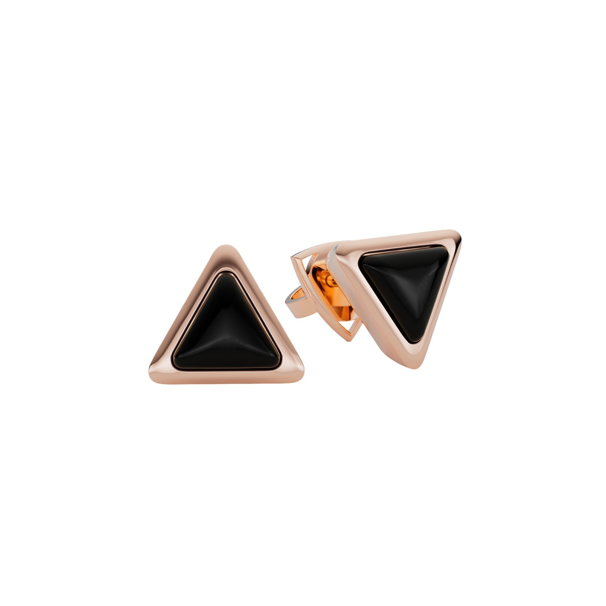 Earrings Be The One Gem Rose Gold Onix