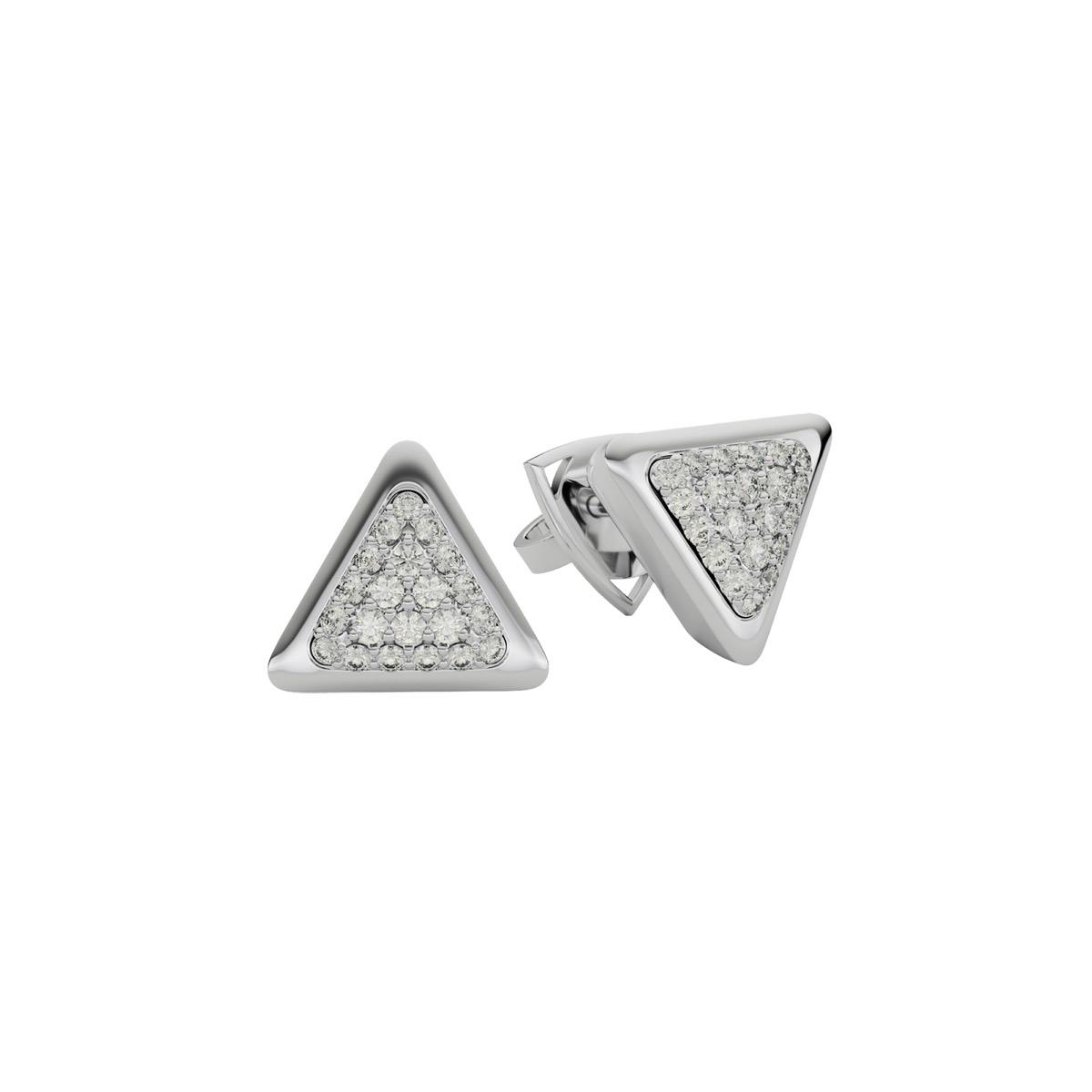 Earrings One Anniversary White Gold Full Diamonds Pavé