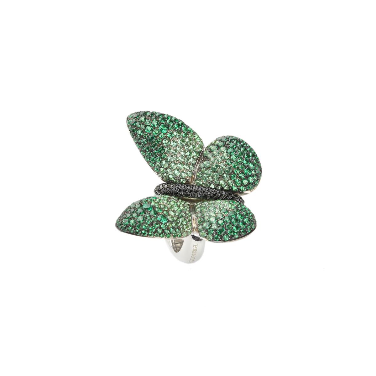 Pavè Butterfly Silver Ring