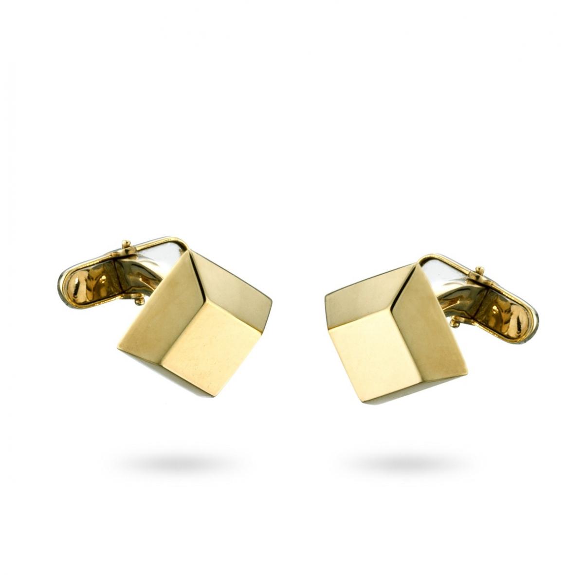 18Kt Gold Ingot Cufflinks