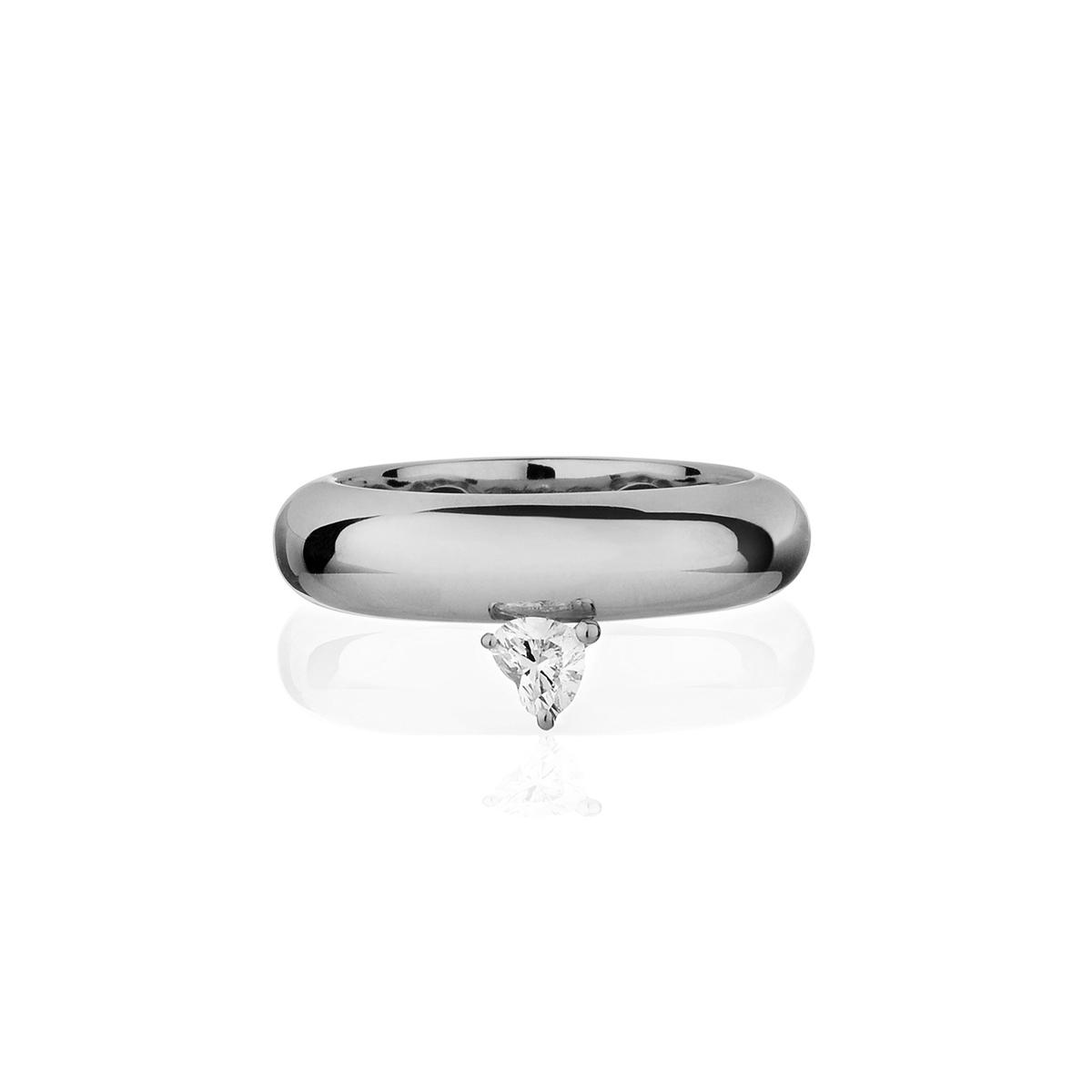 Chubby - Fancy Diamond Heart Ring (Wide Version)