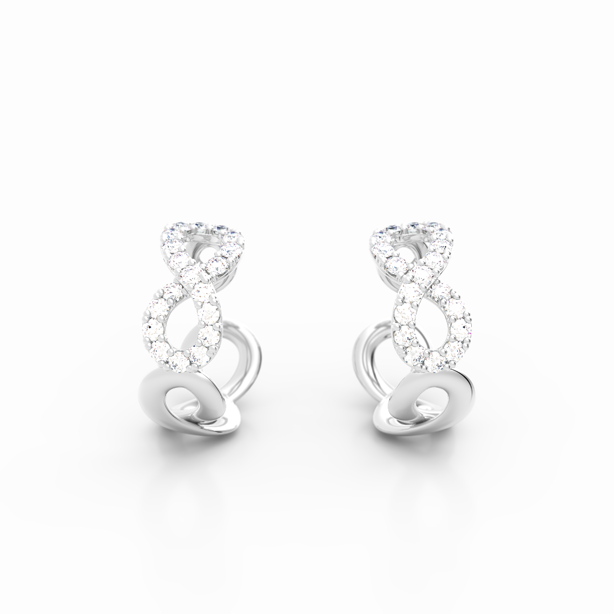 Infinity Collection Platinum Earrings