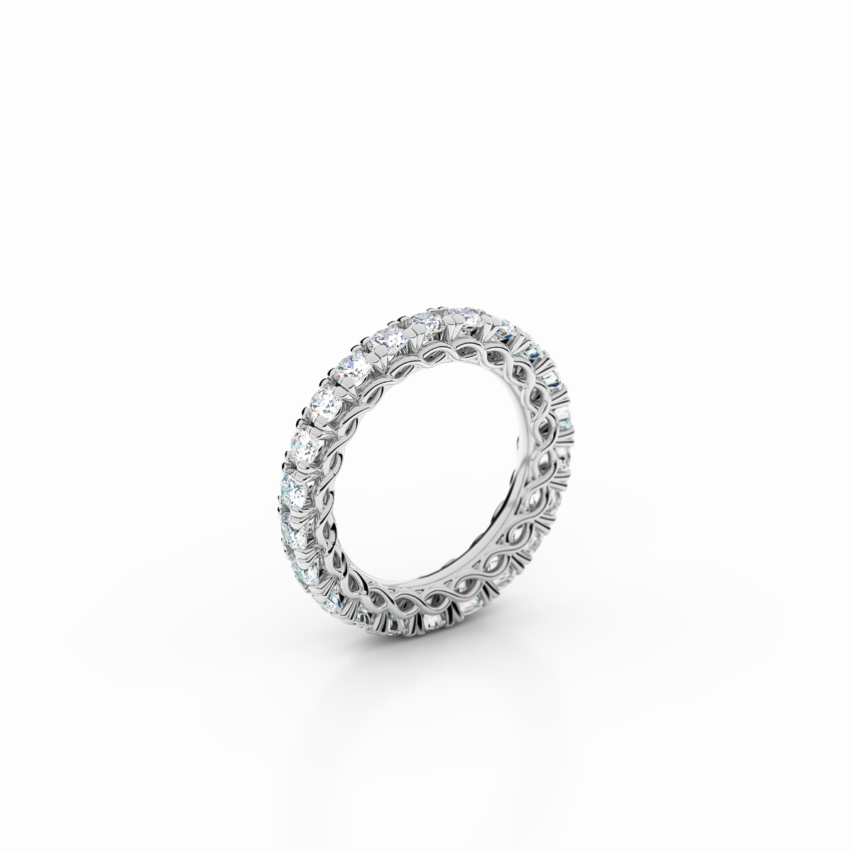 Infinity Collection - Platinum Infinity Ring with 2.38 ct Diamonds