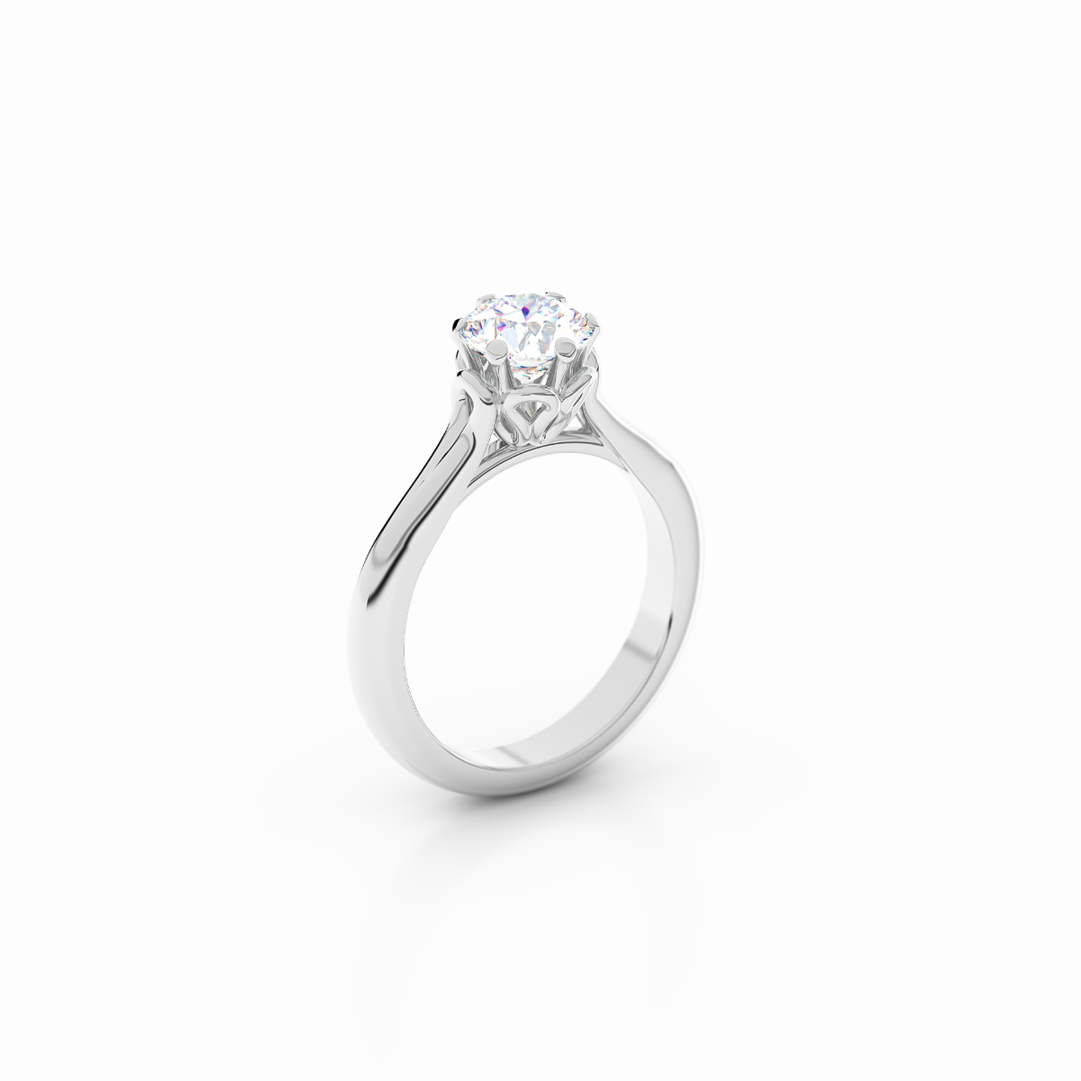 Infinity Collection - Platinum Solitaire Engagement Ring
