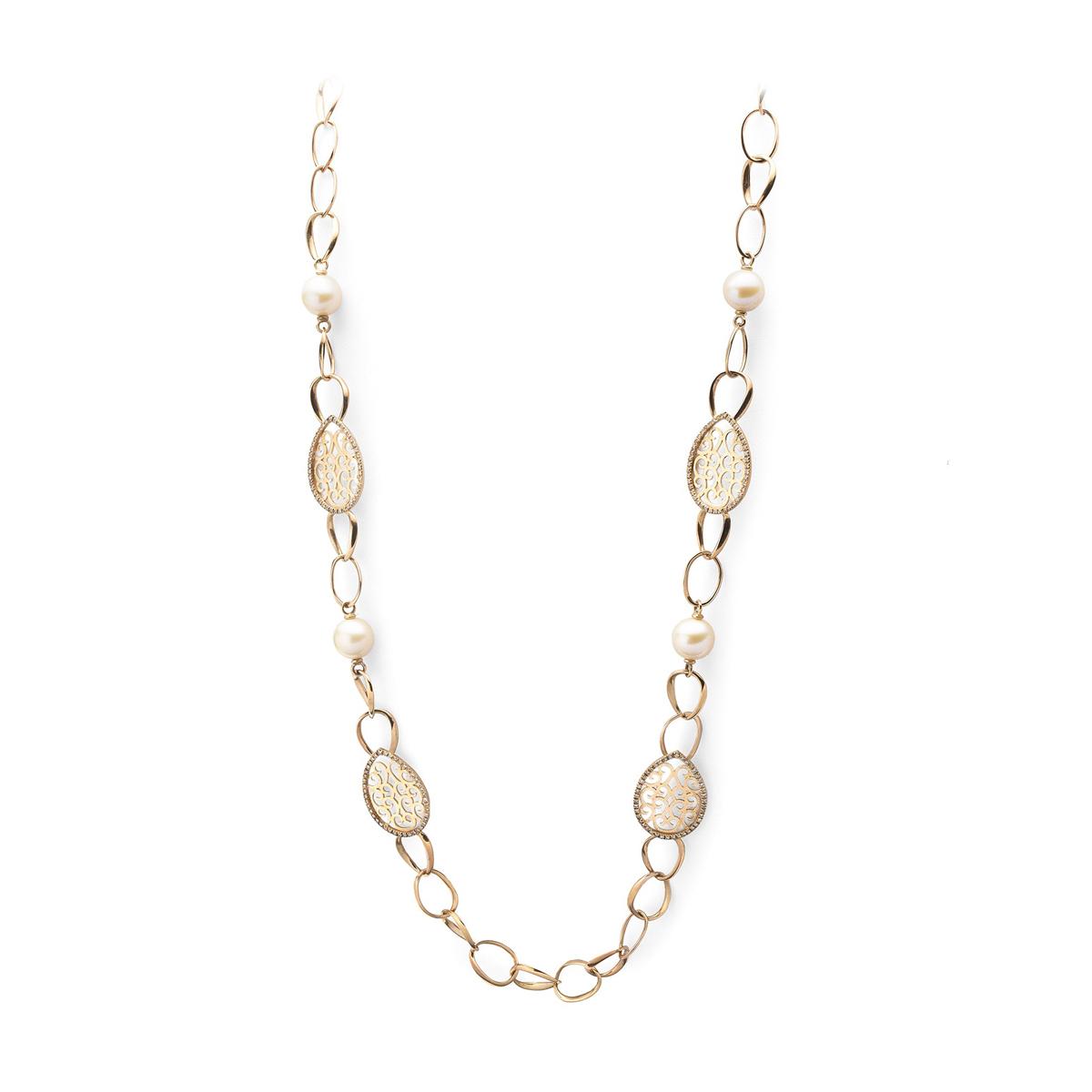 Fantasy Diamonds Pearl Necklace