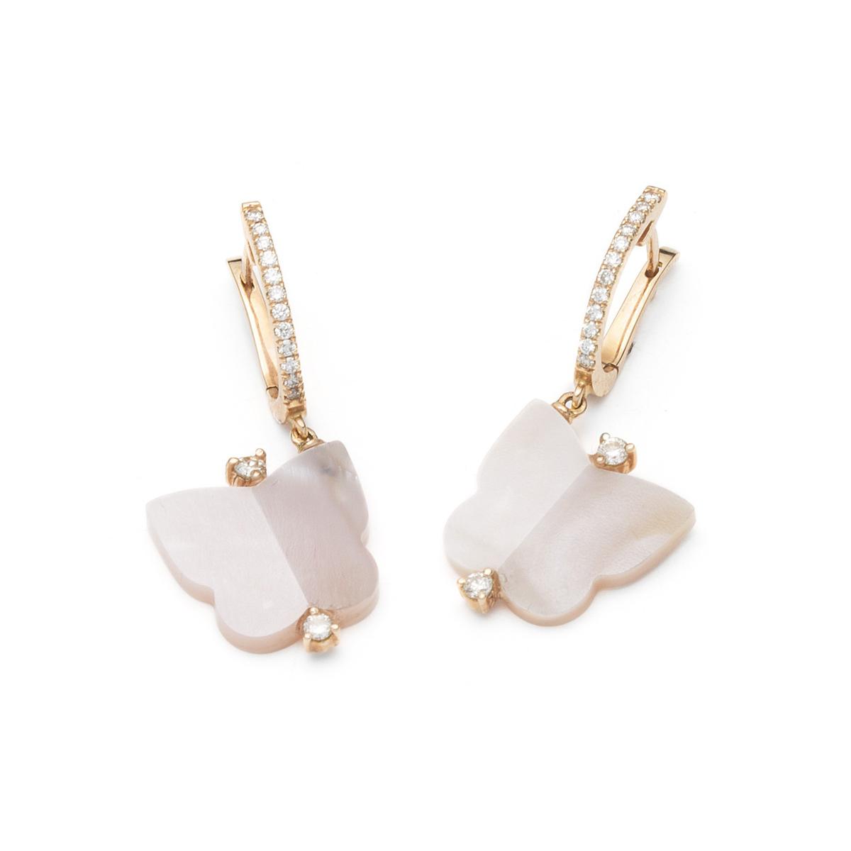 Drop Butterfly Earrings