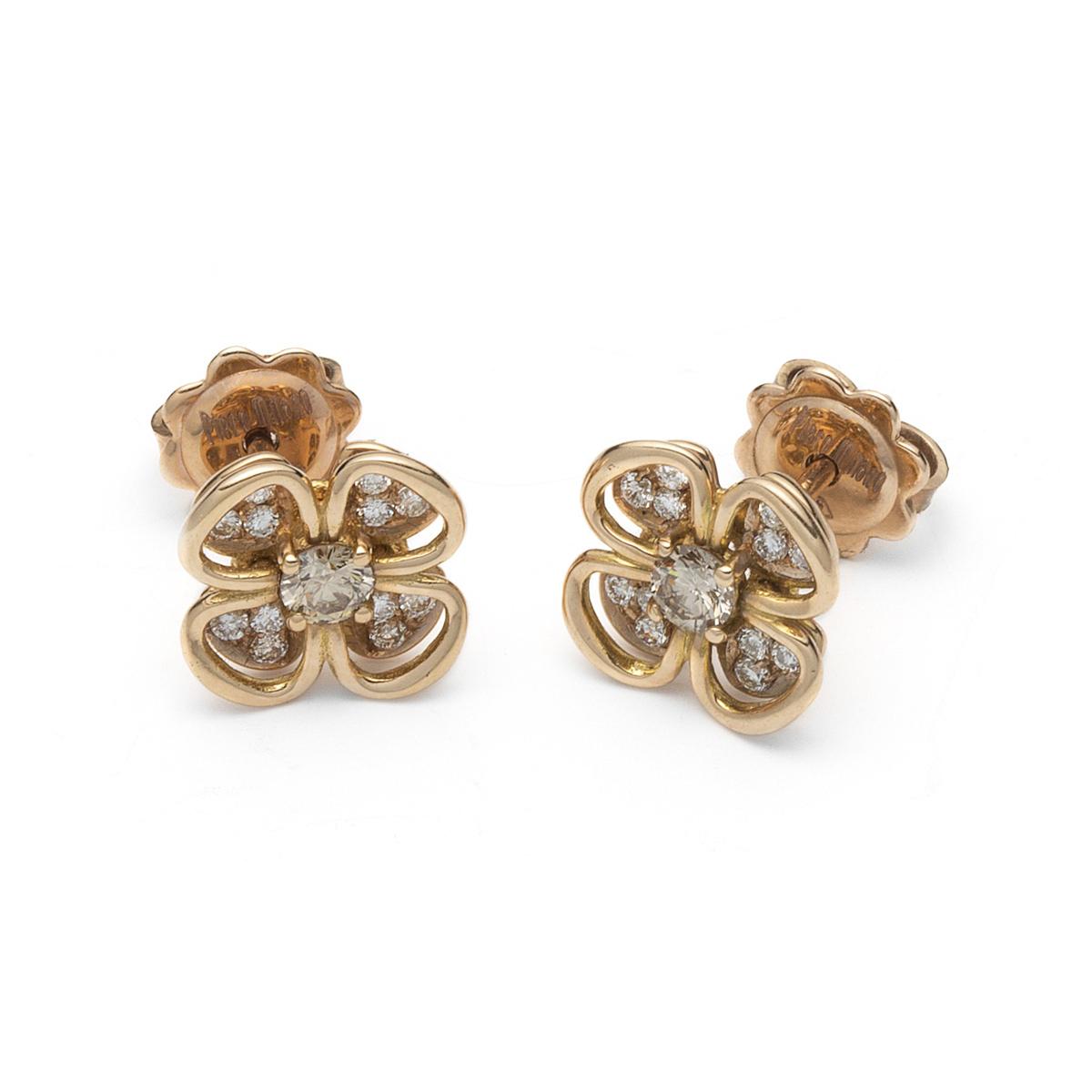 Four-Leaf Clover Diamond Earrings