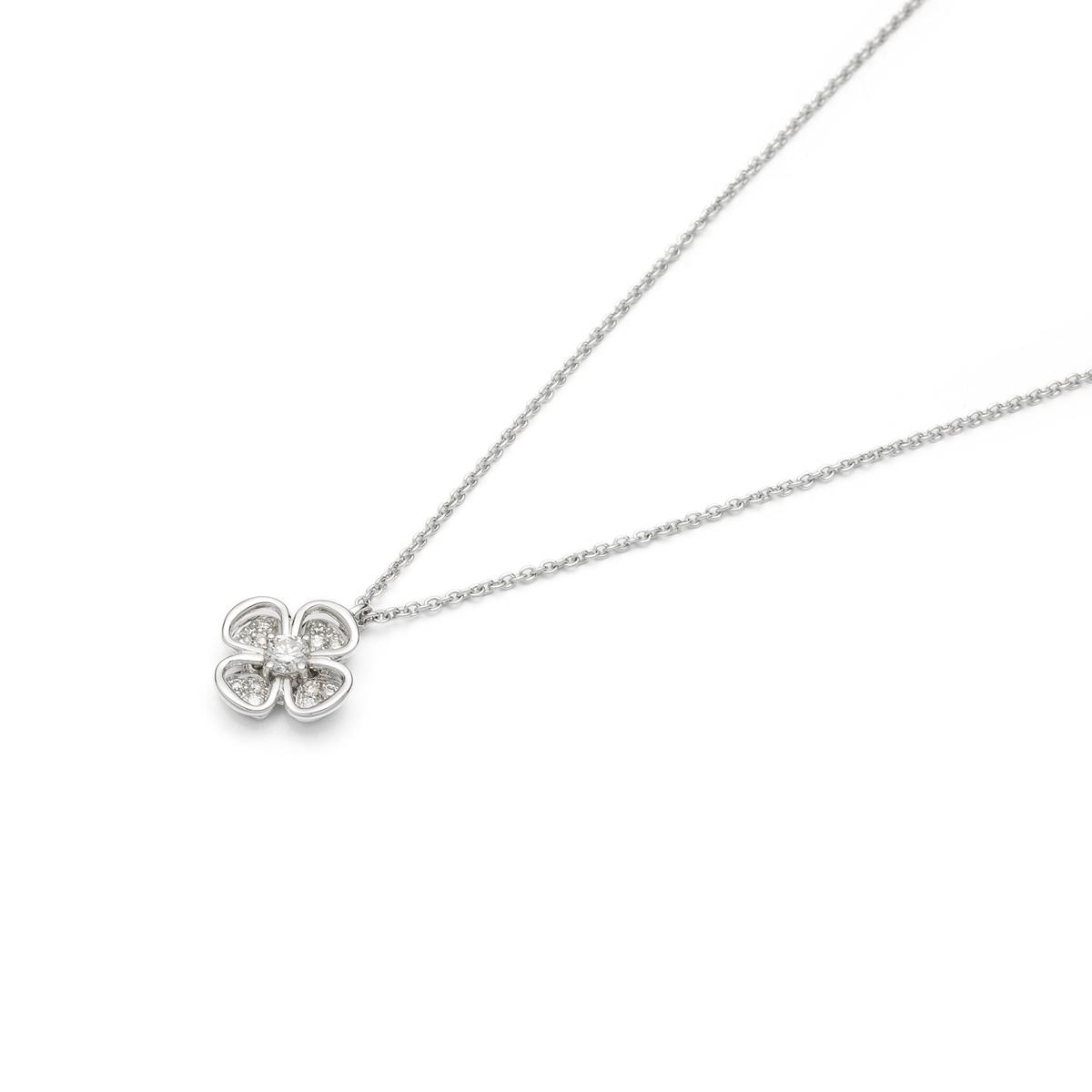 Four-Leaf Clover Diamonds Pendant