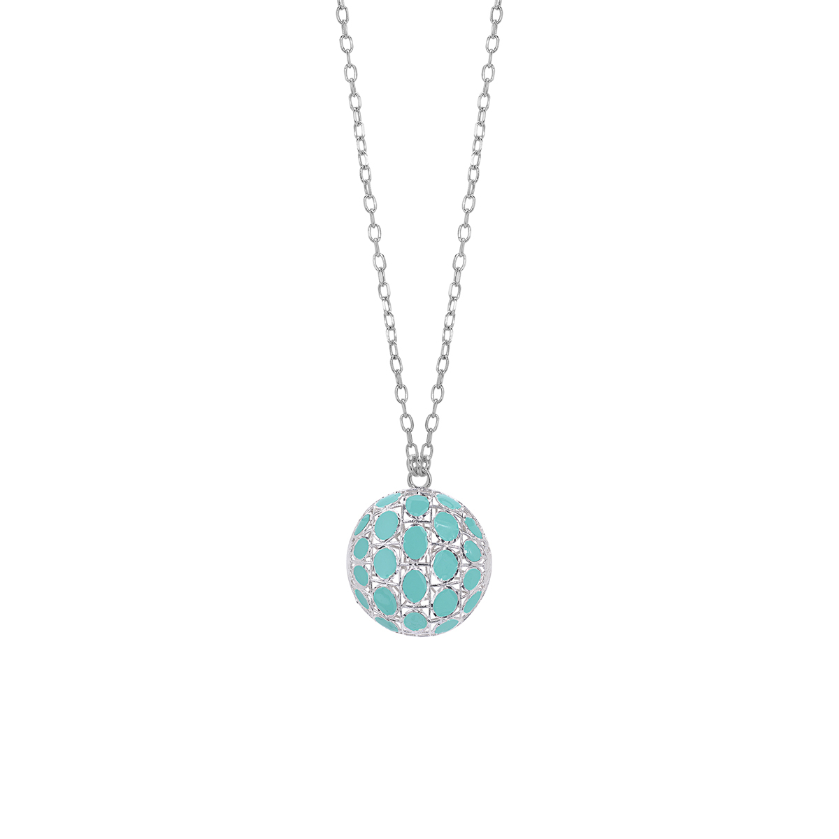 Rhodium-Plated Silver Necklace