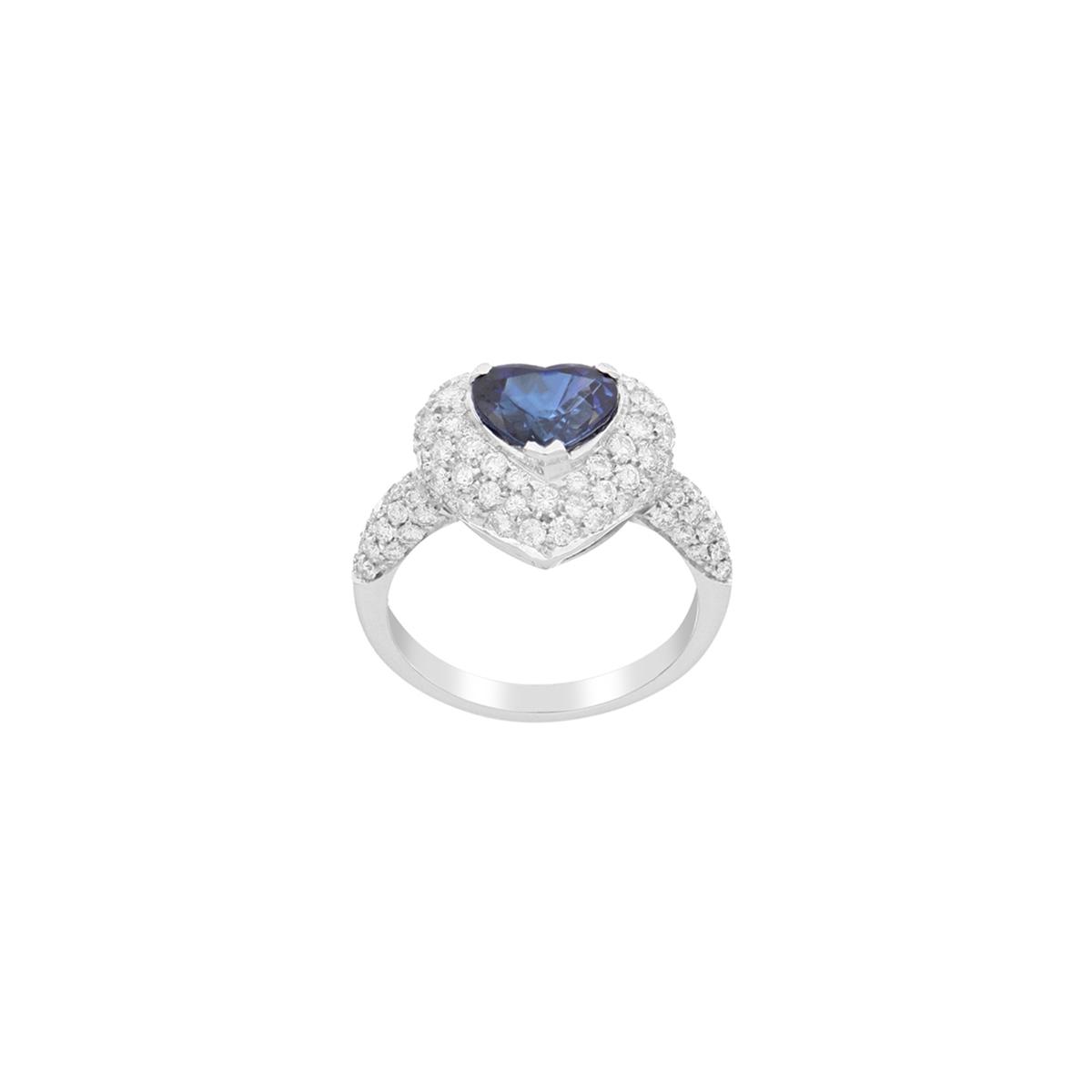 Precious Heart Sapphire Ring