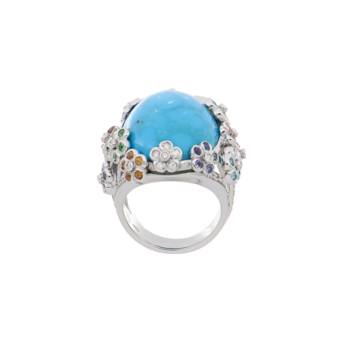 Turquoise Ring with Multi-Gemstones