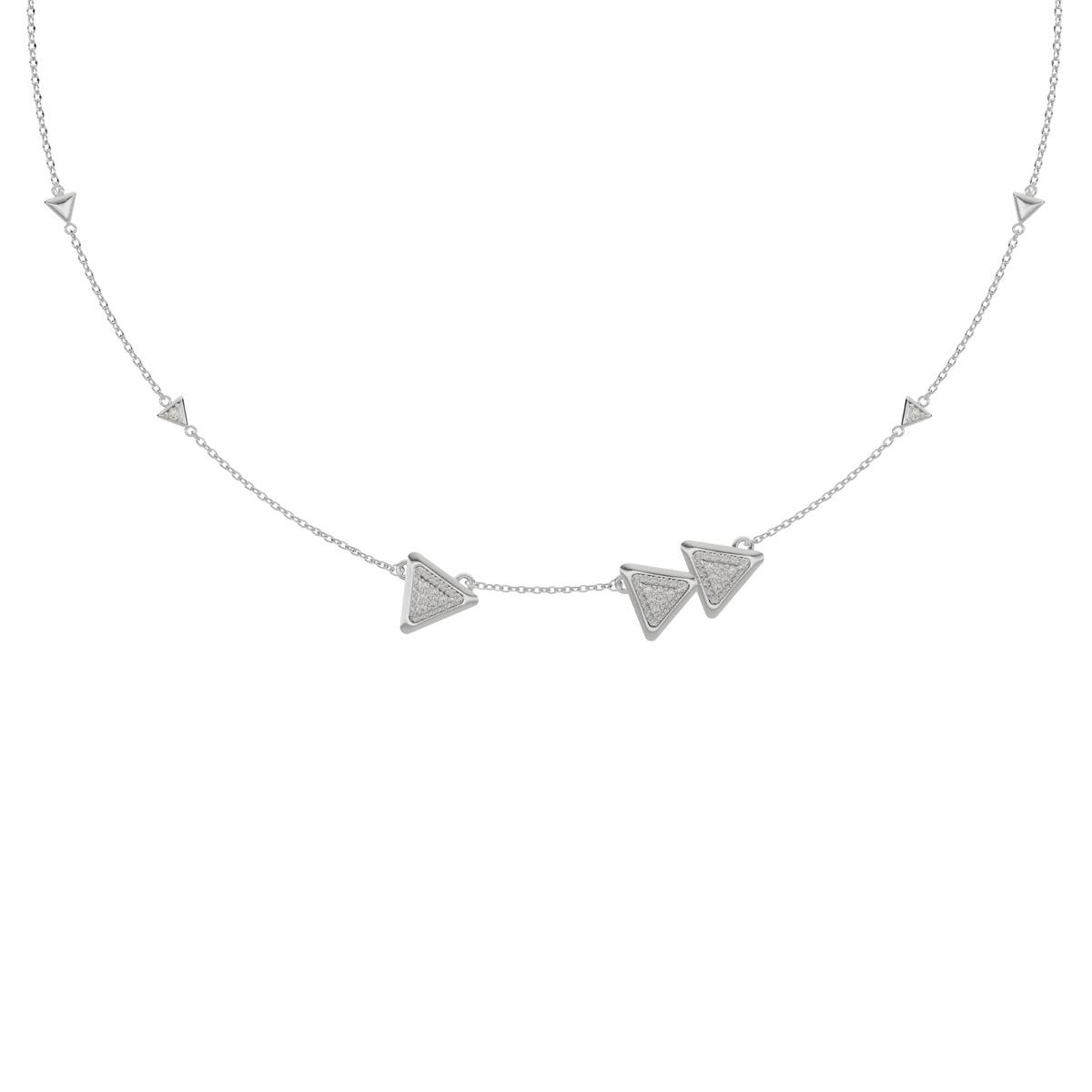 Necklace Anniversary Dove Vai Forward White Gold Full Diamonds Pavé