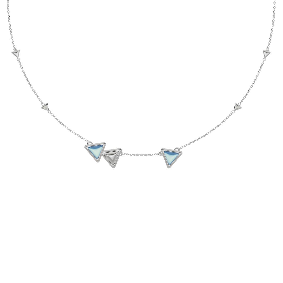Necklace Dove Vai Rewind Gem White Gold Blue Topaz