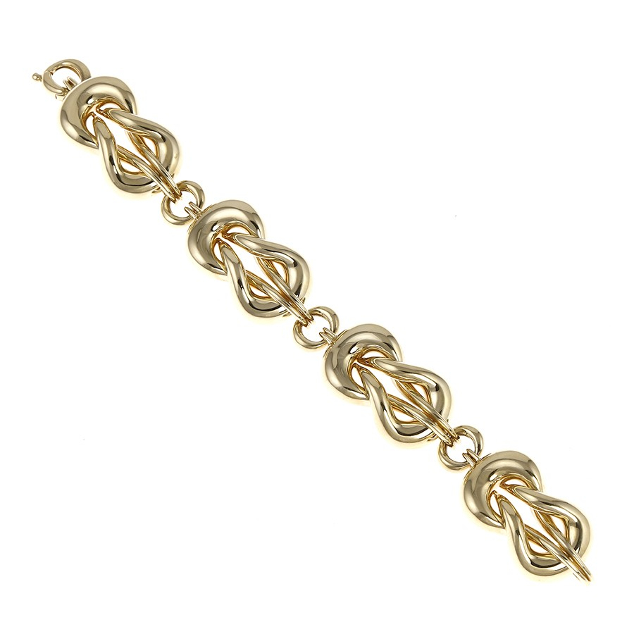 Contemporary Chain Bracelet in 18Kt Yellow Gold