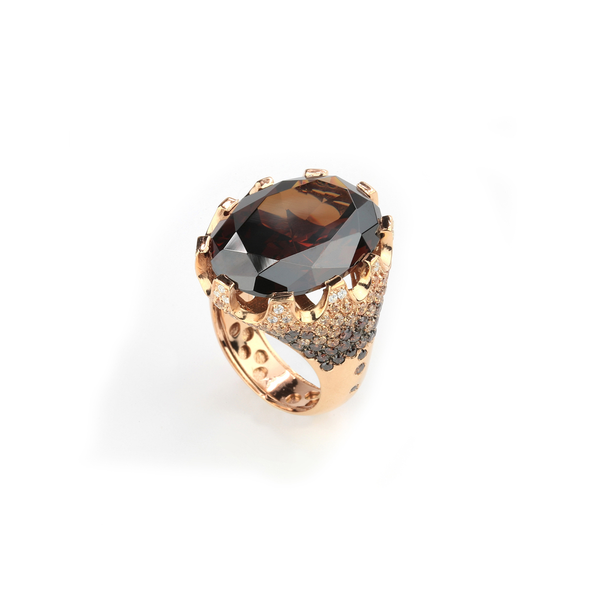 Fantasy Rose Silver Ring
