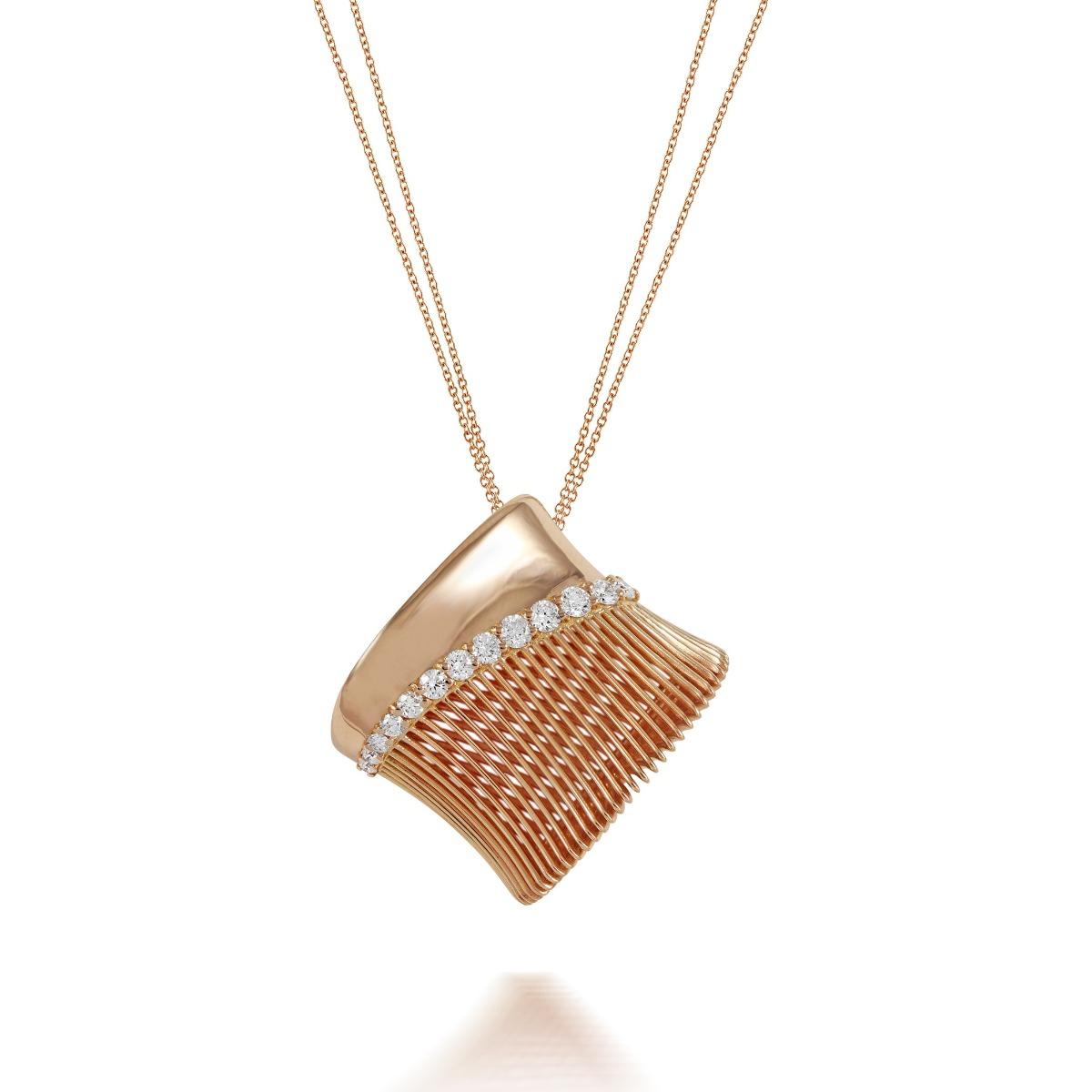 Batumi Rose Gold and Diamond Necklace