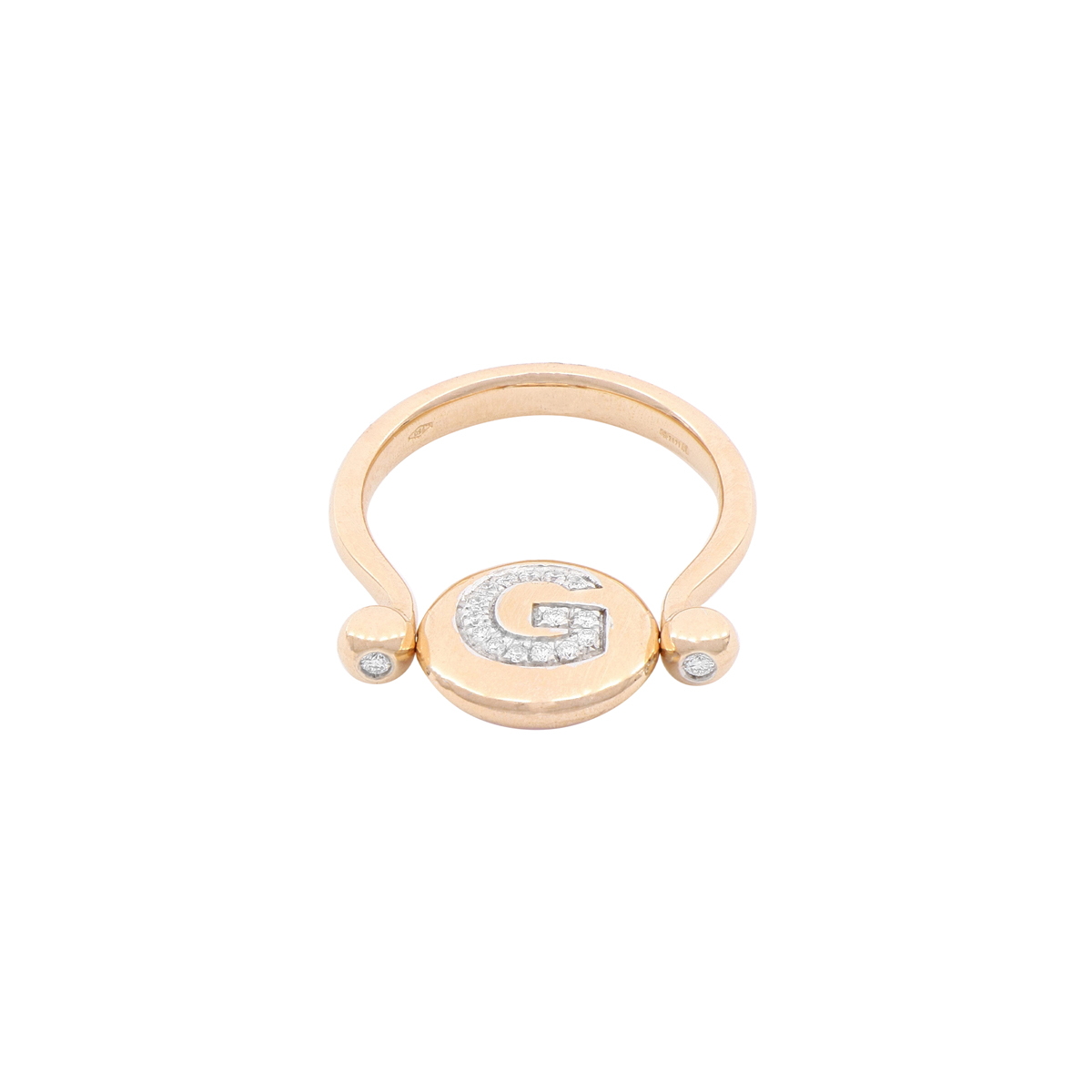 Double-face Diamond Letter Ring