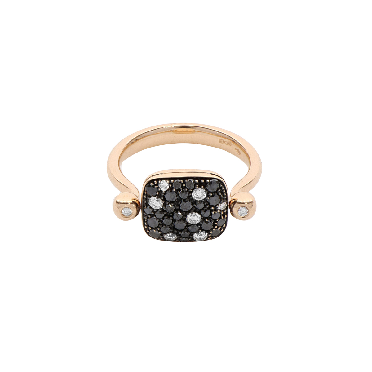 Double-face Square Diamond Ring