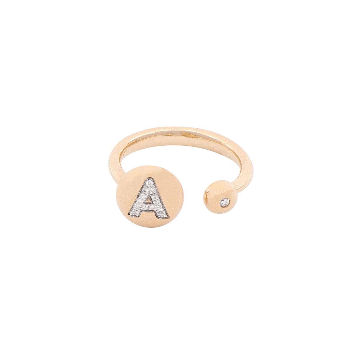 Fantasy Diamond Letter Ring