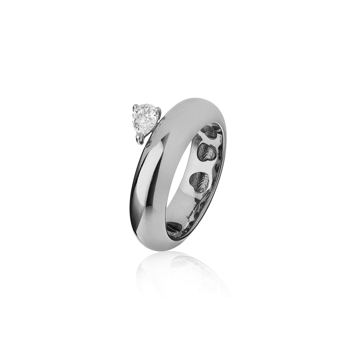 Chubby - Fancy Diamond Drop Ring (Wide Version)