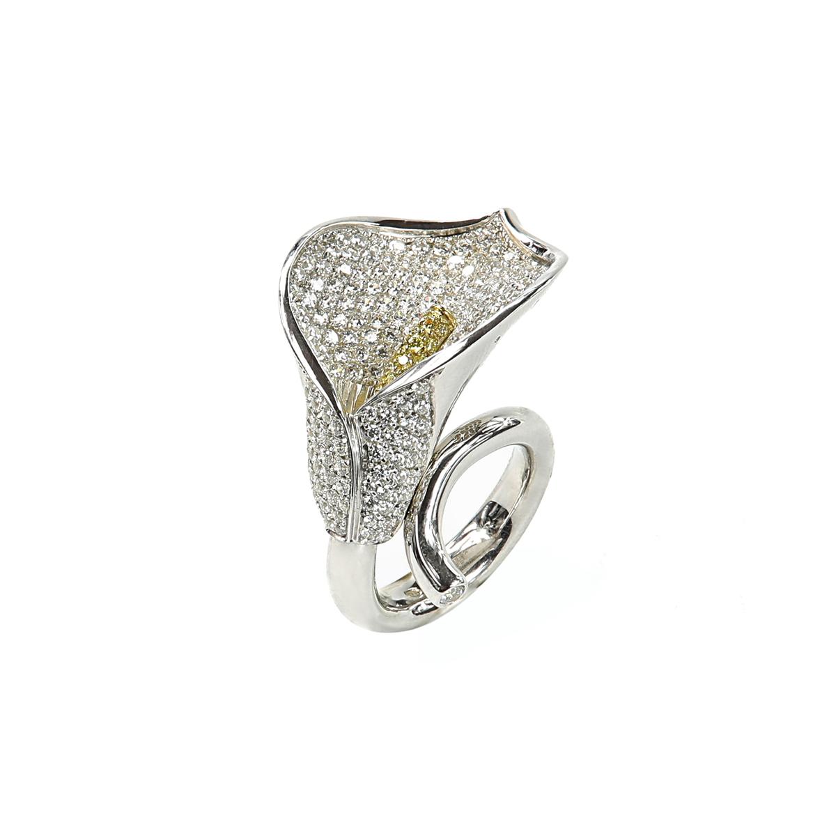 Fantasy Silver Calla Ring