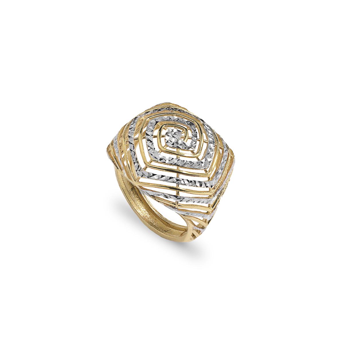 Rose Silver Diamond Effect Ring