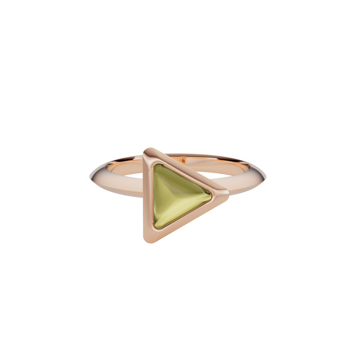 Ring Be The One Gem Rose Gold  Green Tourmaline