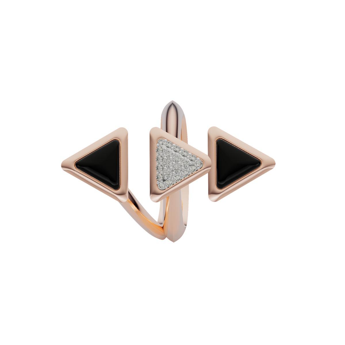 Ring Dove Vai Rewind Rose Gold Onix and Diamonds