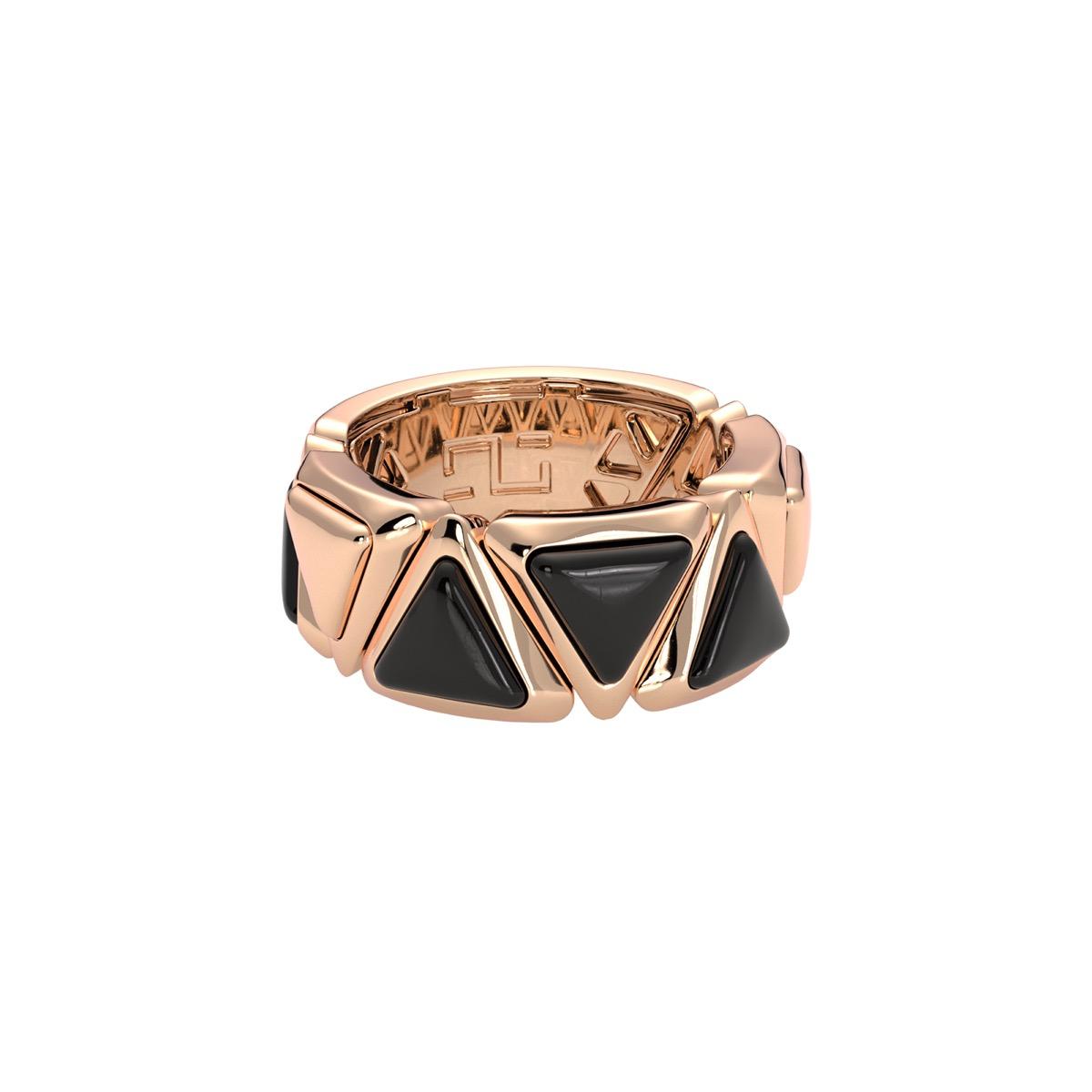 Ring Mirror Gem Rose Gold Onix