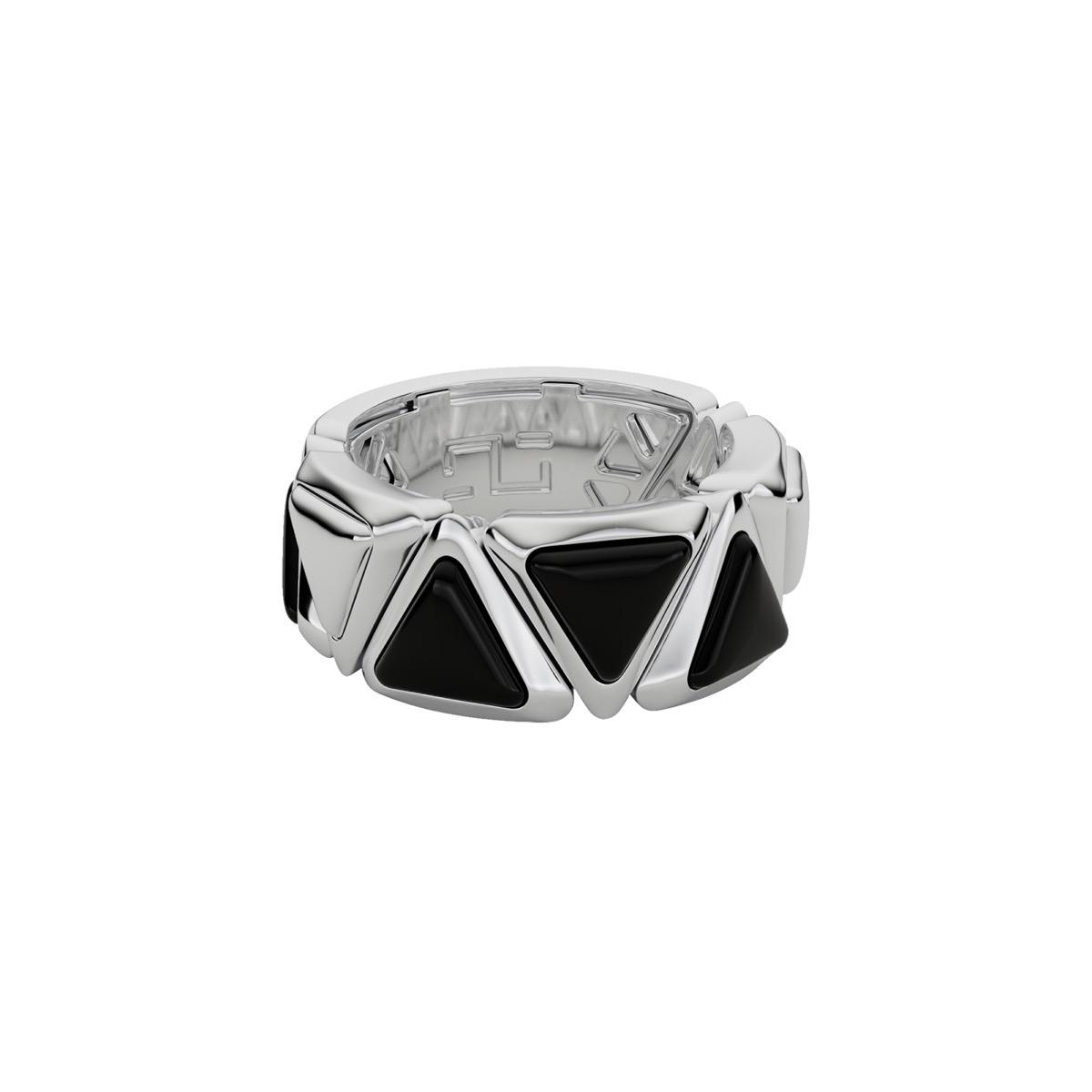 Ring Mirror Gem White Gold Onix
