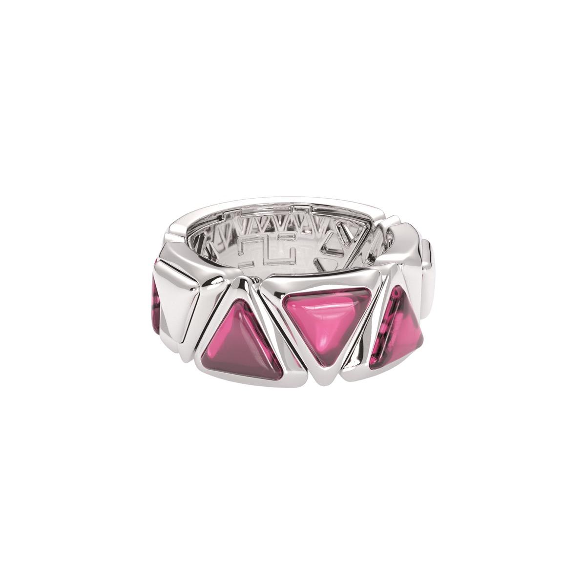 Ring Mirror Gem White Gold Pink Garnet