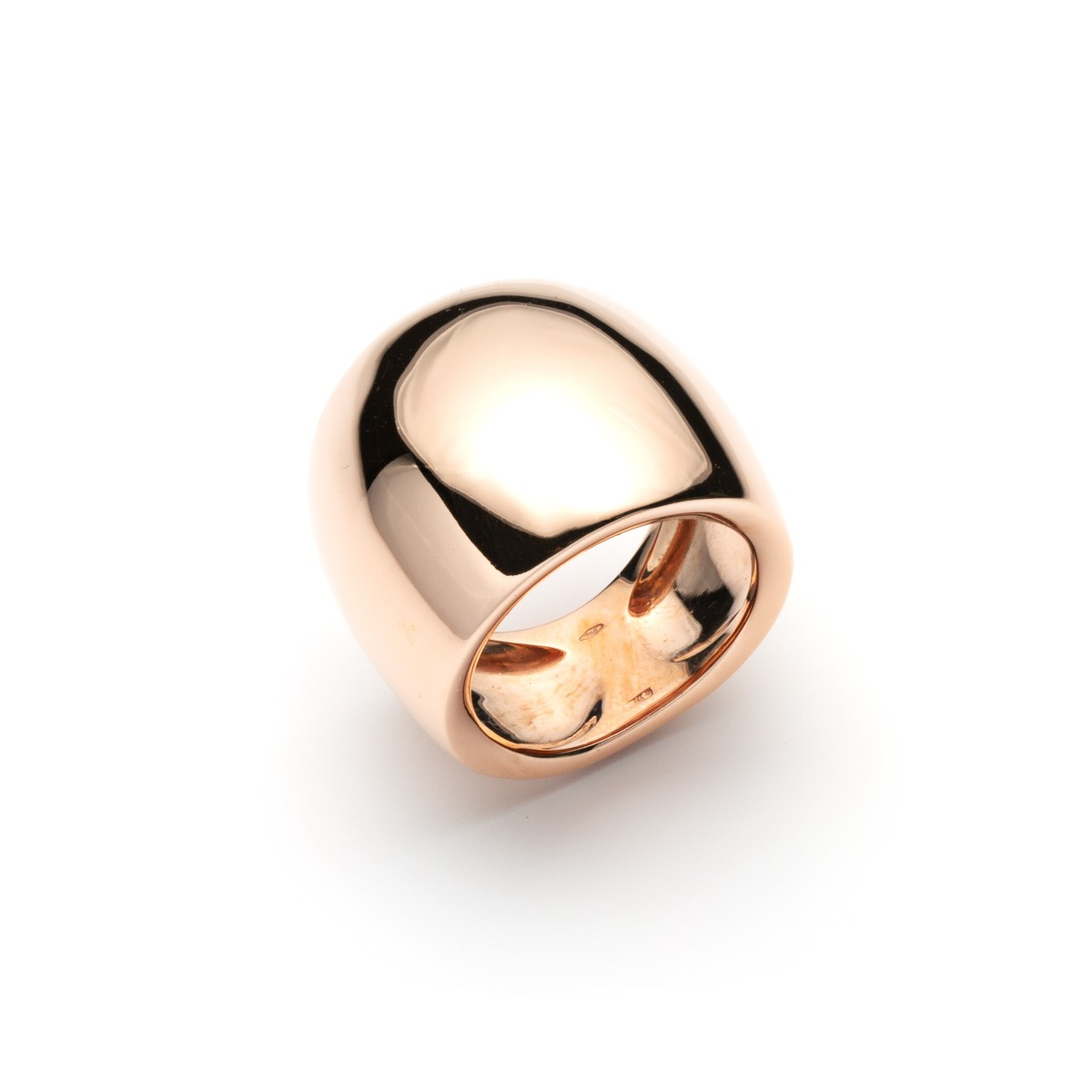 Convex Wide Band Ring in Rose Gold